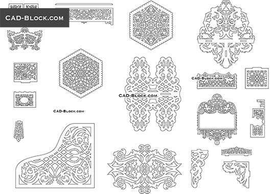Jali Design Pattern download free AutoCA block