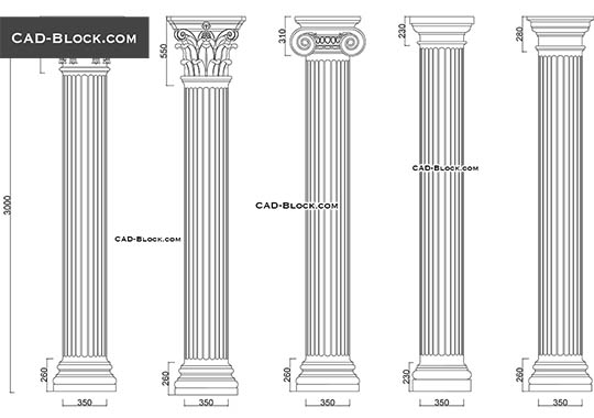 Columns - download free CAD Block