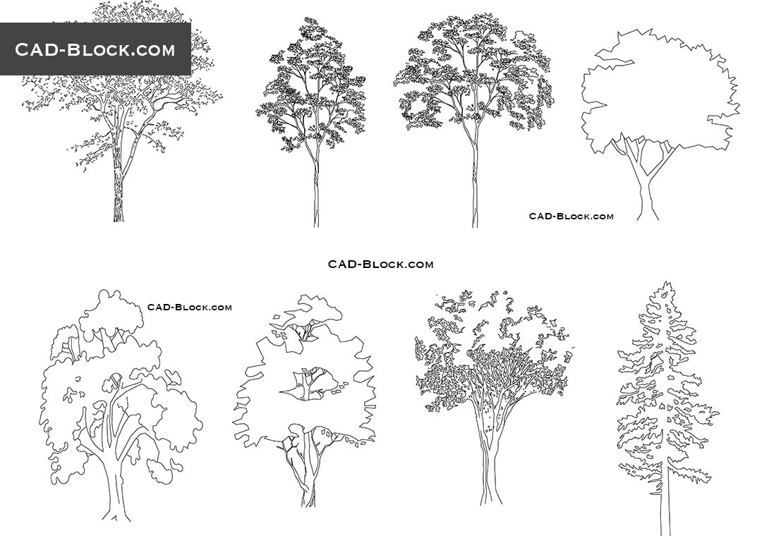 Trees elevation - CAD Blocks, AutoCAD file