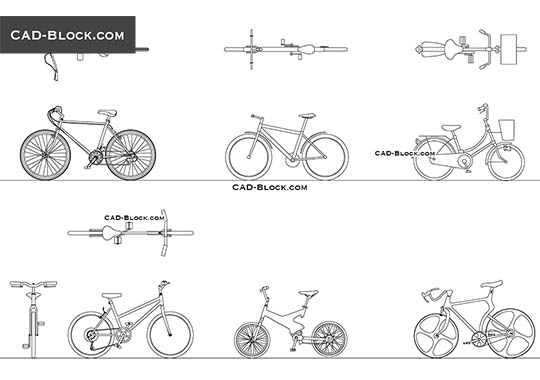 Bikes - download free CAD Block