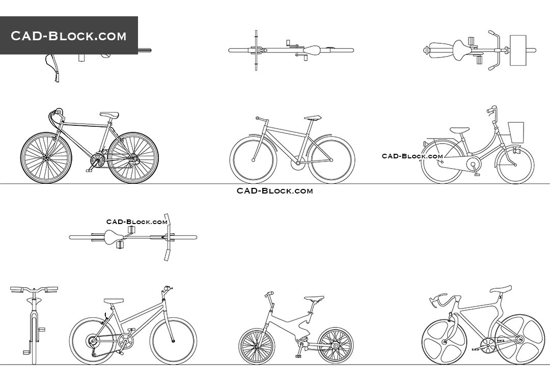 Bikes - CAD Blocks, AutoCAD file