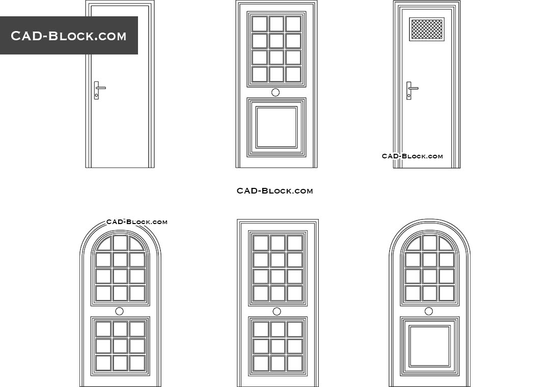 Wooden doors cad blocks free download for Porte 3d dwg