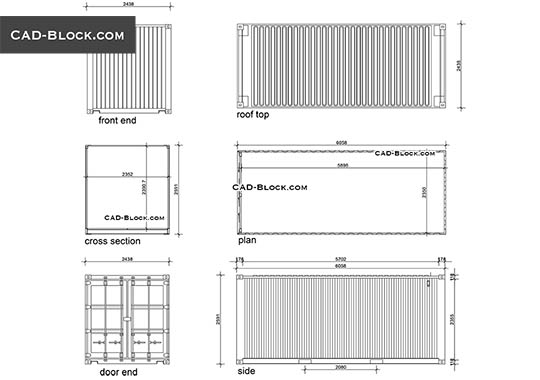 Shipping container - free CAD file