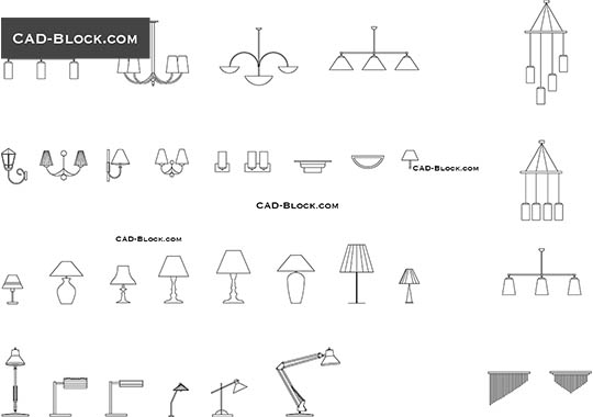 Lighting set - download free CAD Block