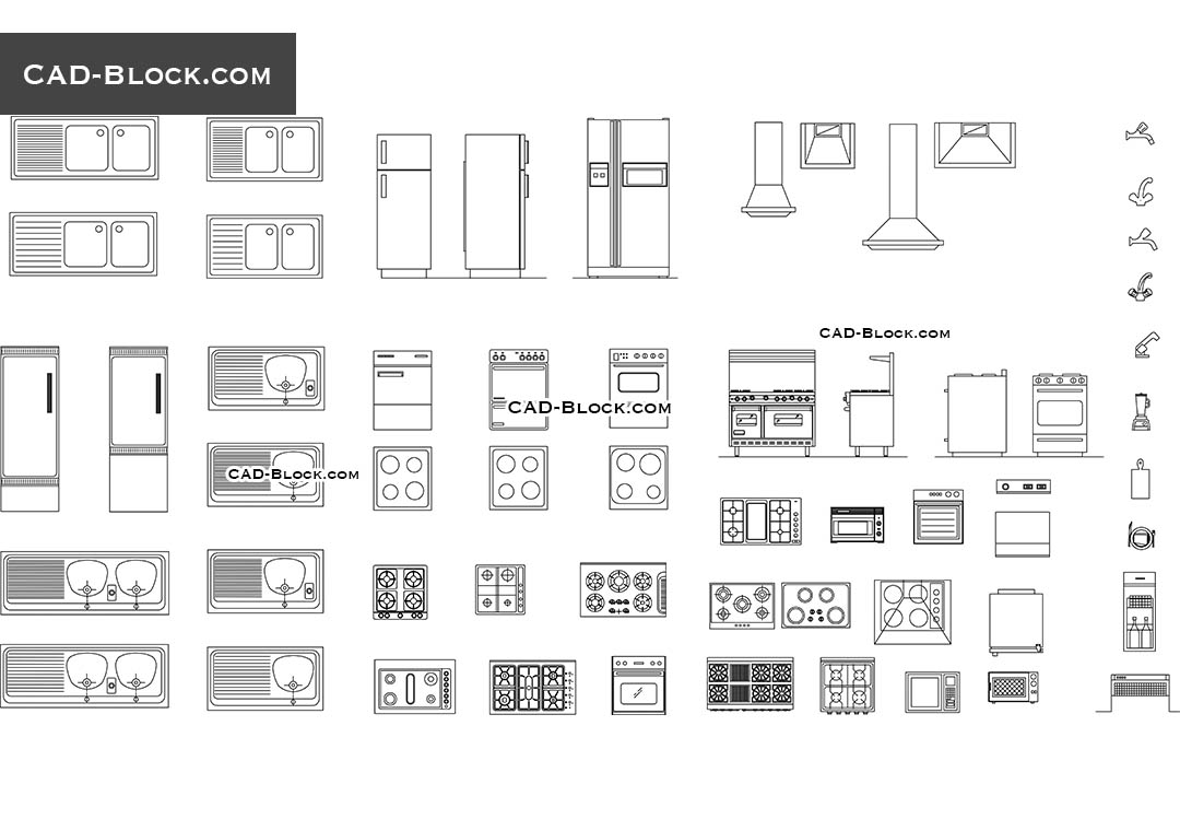 Restaurant Kitchen Plan Dwg kitchen equipment cad blocks, drawings free download