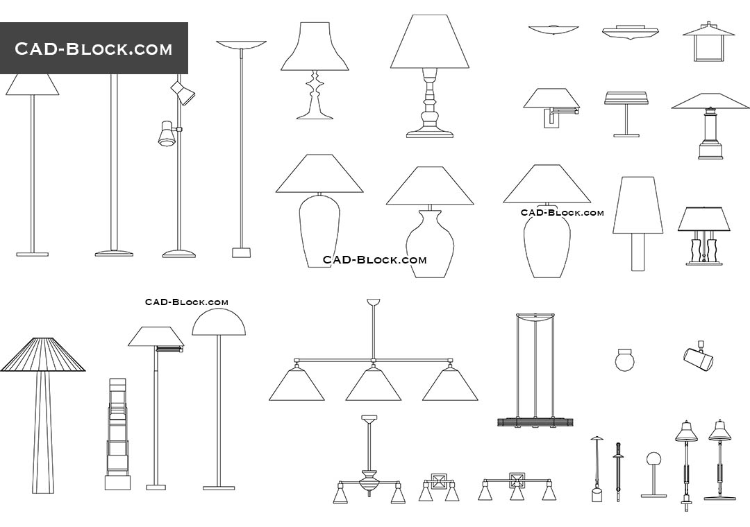 Lights Cad Blocks Free Download Autocad Dwg Models