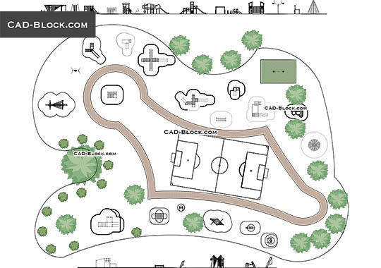 Playground plan - download free CAD Block