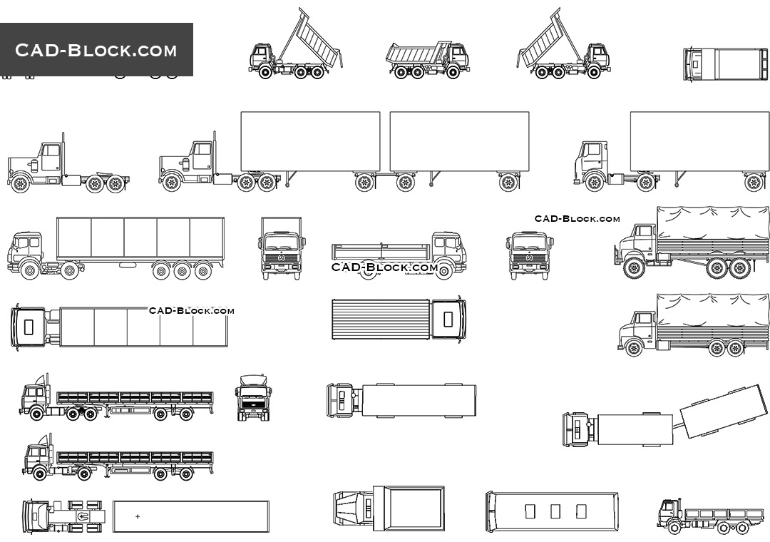 Trucks set - CAD Blocks, AutoCAD file