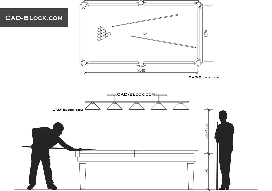 Billiard CAD Blocks AutoCAD drawings for free download : 1490560101billiard from cad-block.com size 1080 x 760 jpeg 41kB