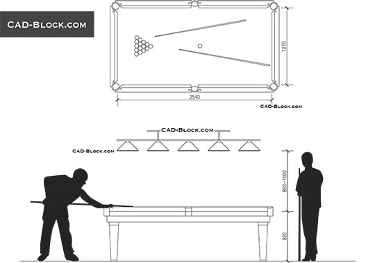 Billiard - download free CAD Block