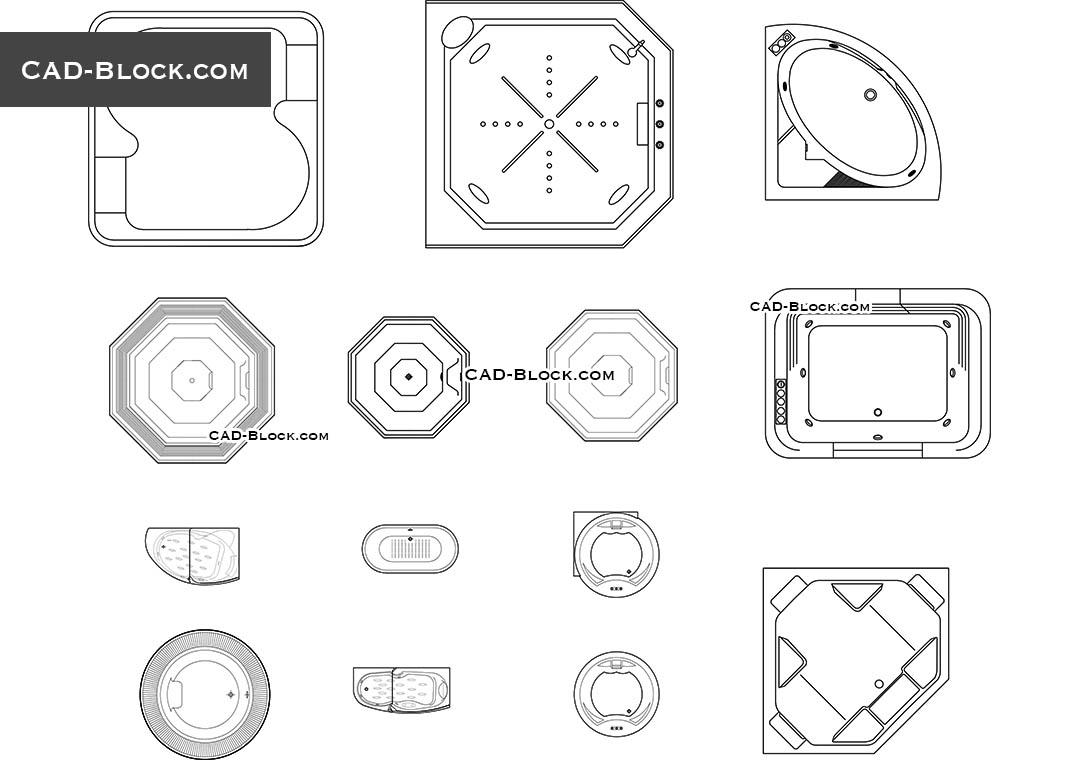 Bathtub Autocad Drawing - Bathtub Ideas