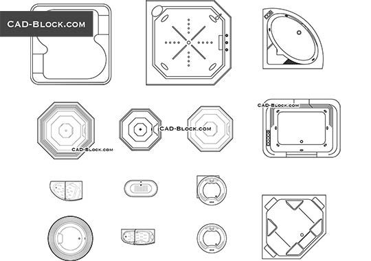 bathtub cad block free download