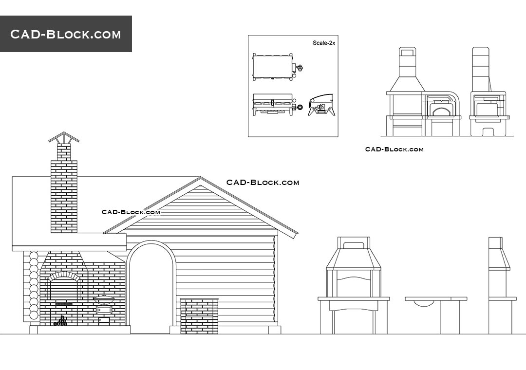 Architecture. Barbecue   Download Free CAD Block