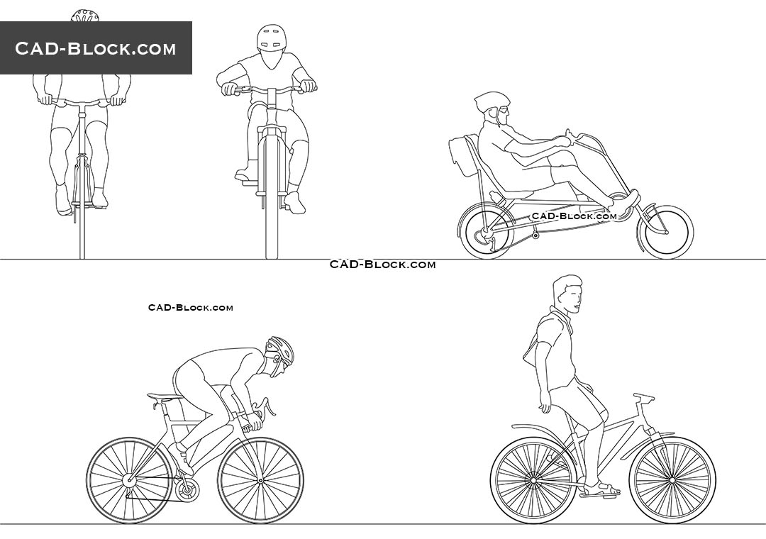Cyclists - CAD Blocks, AutoCAD file