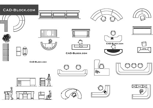 Reception desks - free CAD file