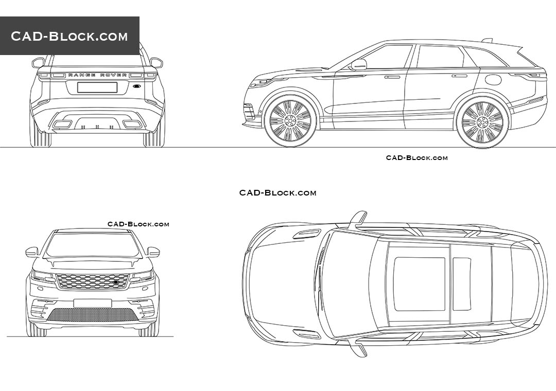 range rover velar cad blocks  autocad drawings download