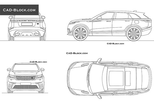 Range Rover Velar buy AutoCAD Blocks
