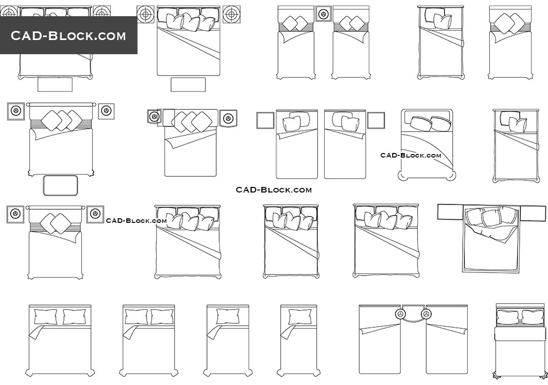 Bedroom Furniture Cad Blocks Bedrooms Modern Pinterest ...