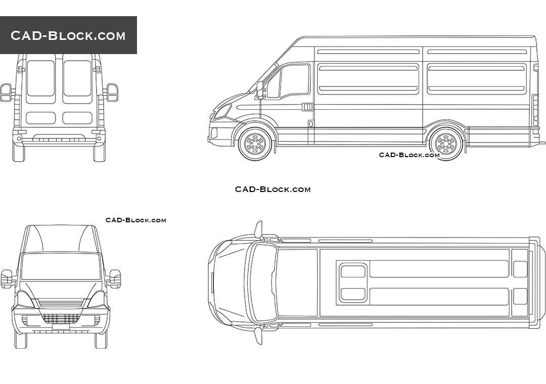 Front Elevation Autocad File Free Download : Iveco daily s cad blocks free download autocad models