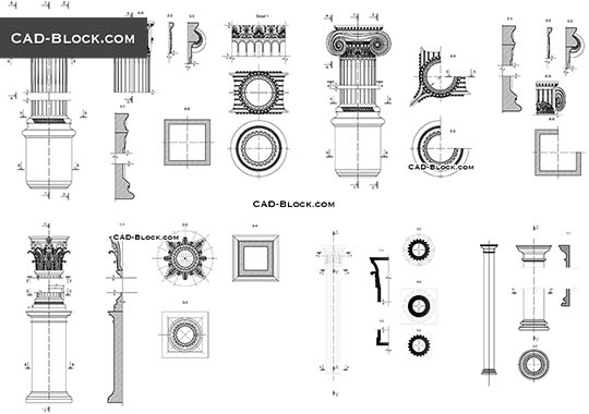 Classical Architectural Orders - free CAD file