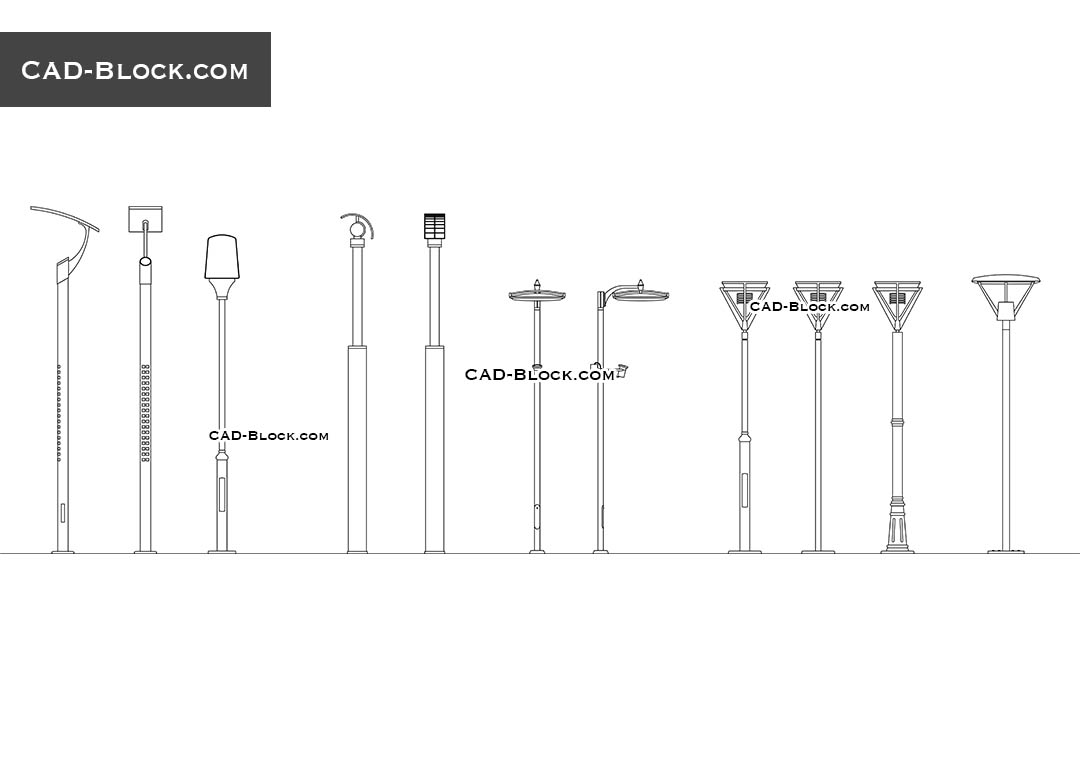 Street Lighting - CAD Blocks, AutoCAD file
