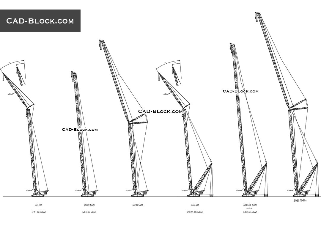 Cranes - CAD Blocks, AutoCAD file