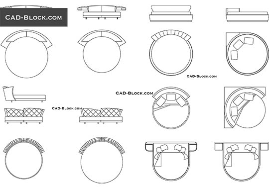 Round Beds - free CAD file