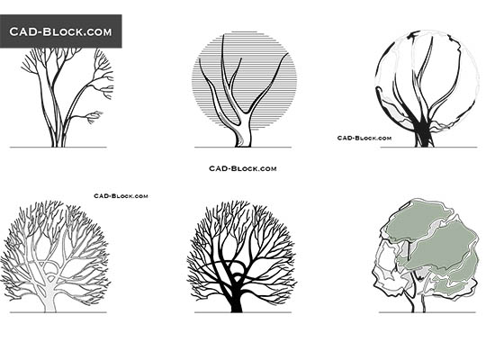 Trees Elevation View buy AutoCAD Blocks