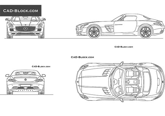 Mercedes SLS Roadster (2012) buy AutoCAD Blocks