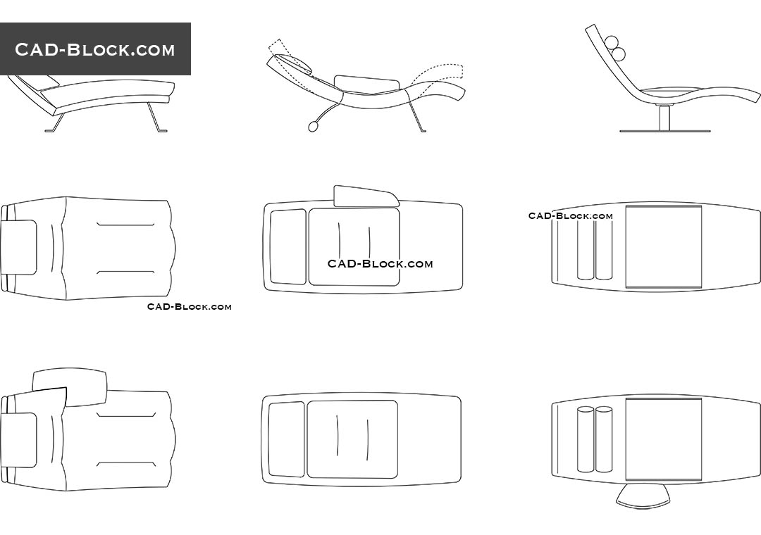 chaise lounge cad blocks free autocad drawings download