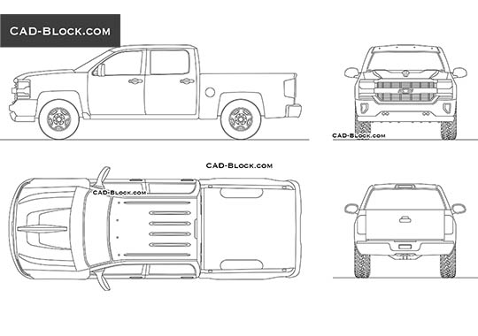 Chevrolet Silverado (2017) - download free CAD Block