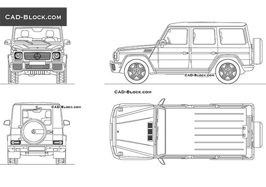 Mercedes-Benz G 65 AMG - download free CAD Block