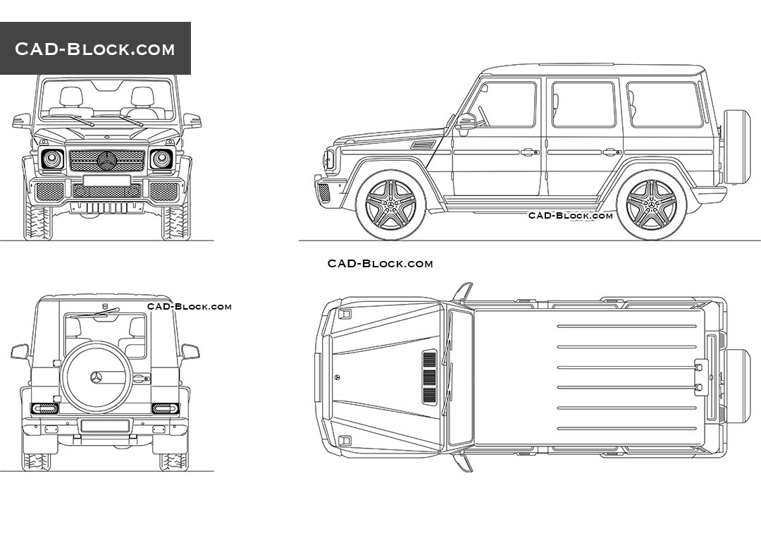 Mercedes benz g 65 amg autocad blocks download cad drawings for Online autocad drawing
