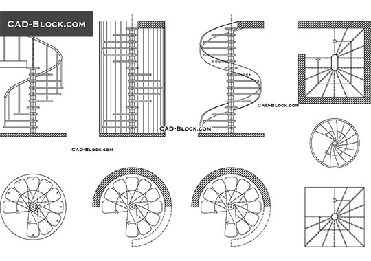 Wall mounted bike rack cad block bicycling and the best Spiral stair details