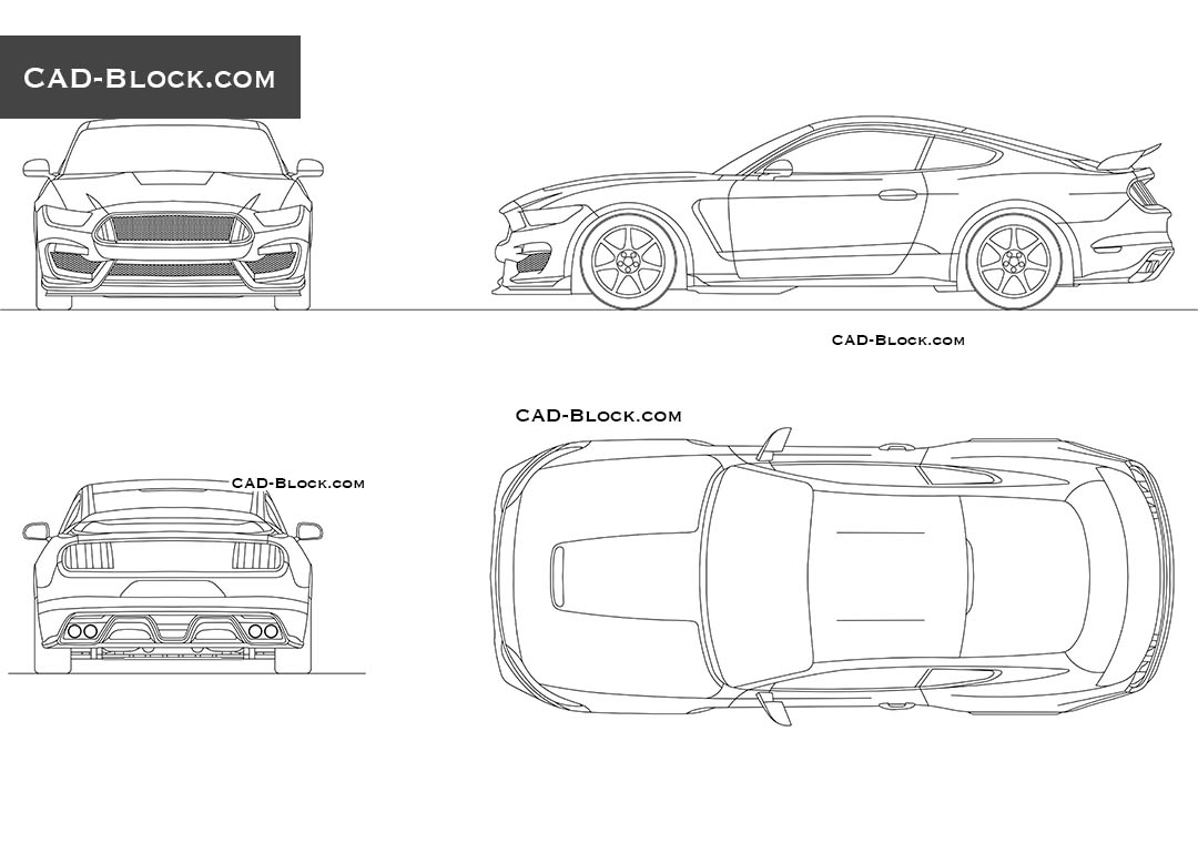 Ford Mustang (2015) - CAD Blocks, AutoCAD file
