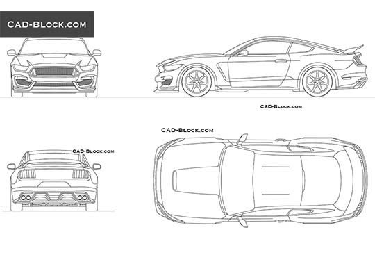 Ford Mustang (2015) buy AutoCAD Blocks