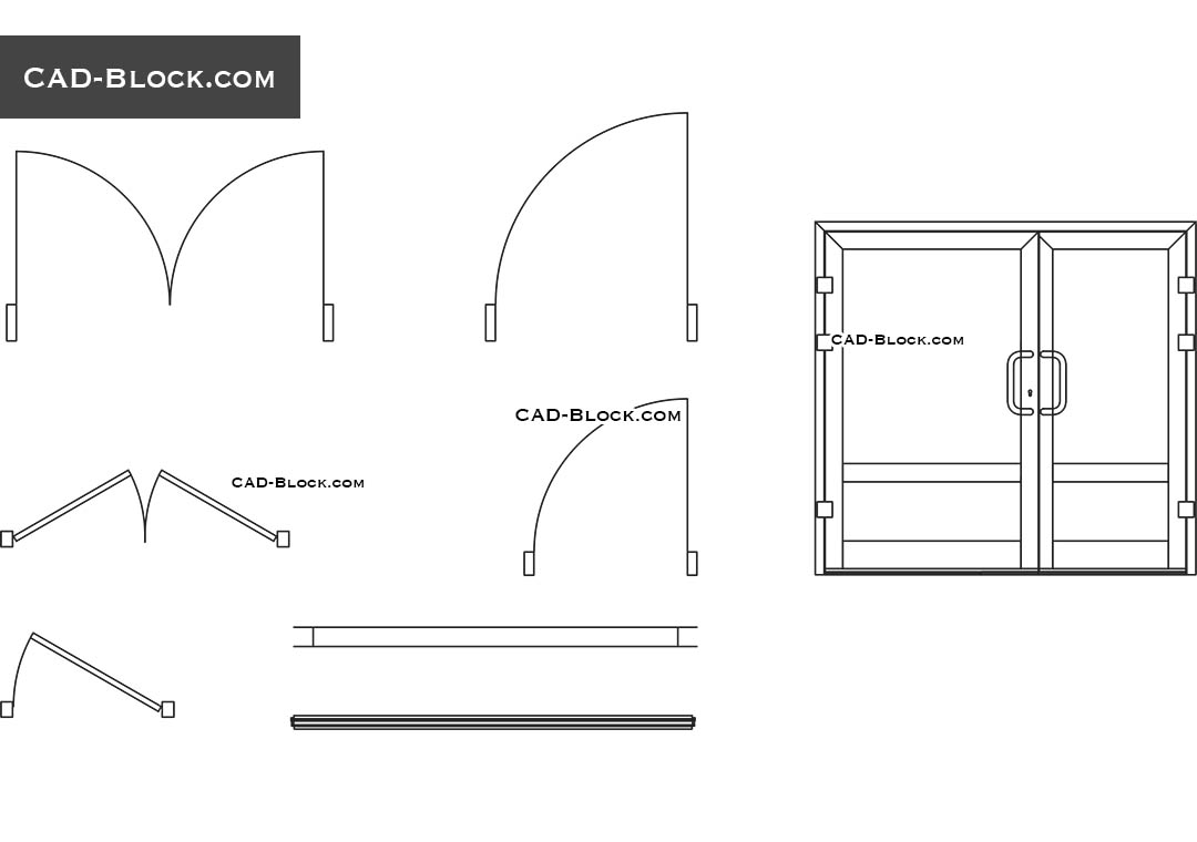 Door and window dynamic block, AutoCAD models, CAD drawings