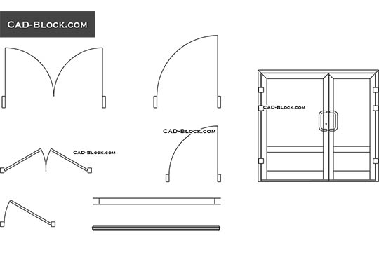 Door & window dynamic block - free CAD file