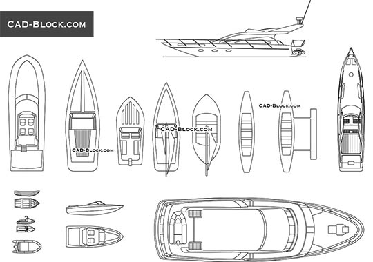 Boats & Yachts - download free CAD Block