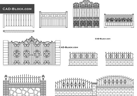 Gates & Fences - free CAD file