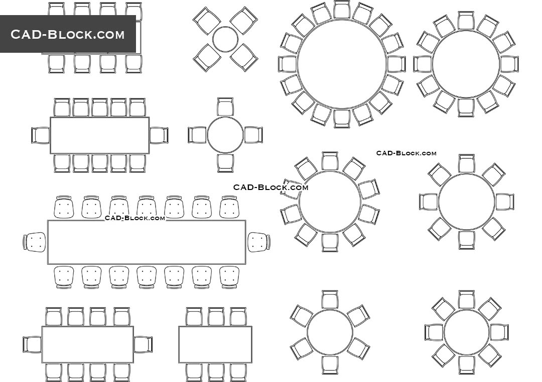 Furniture For Banquet Hall Cad Blocks File