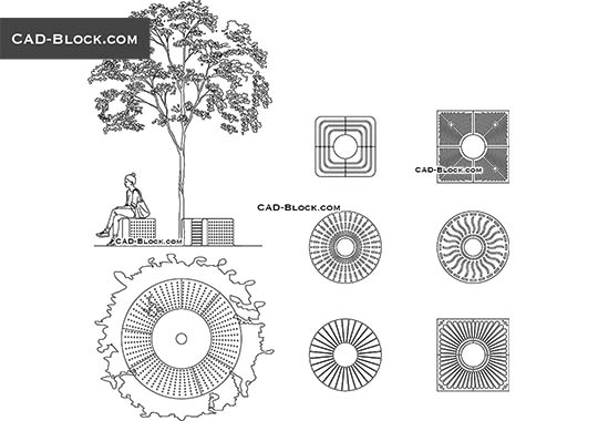 Tree Grilles - download free CAD Block