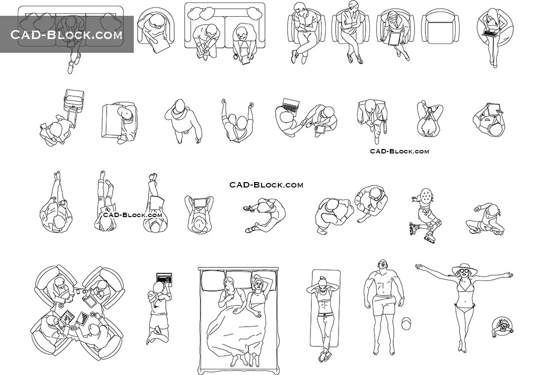Person Top View Cad Block Autocad File Dwg Download