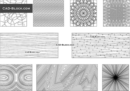 Pattern Lines - download free CAD Block