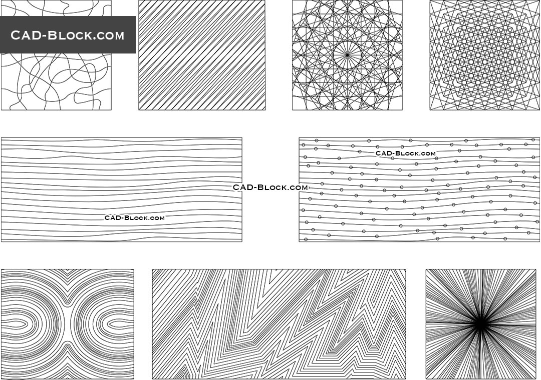 Pattern Lines Vector, free AutoCAD file download, DWG blocks