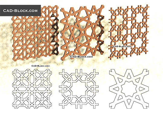 3D Islamic Pattern - download free CAD Block