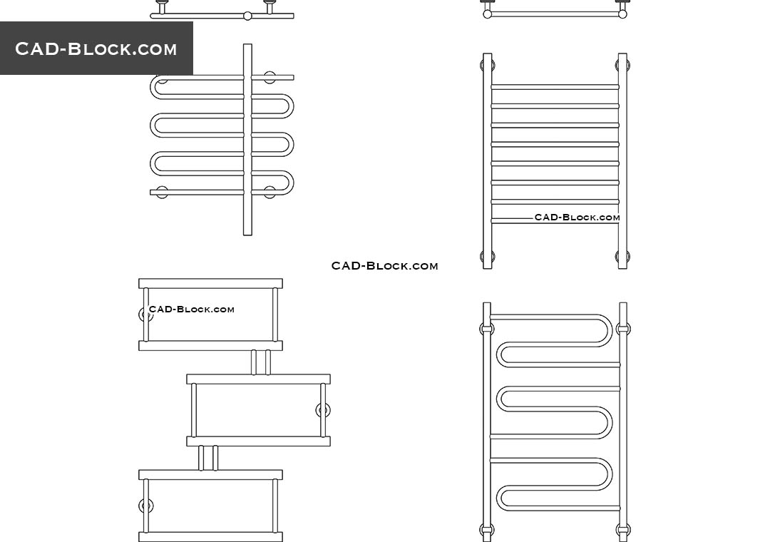 heated towel rail cad block  autocad drawings free download