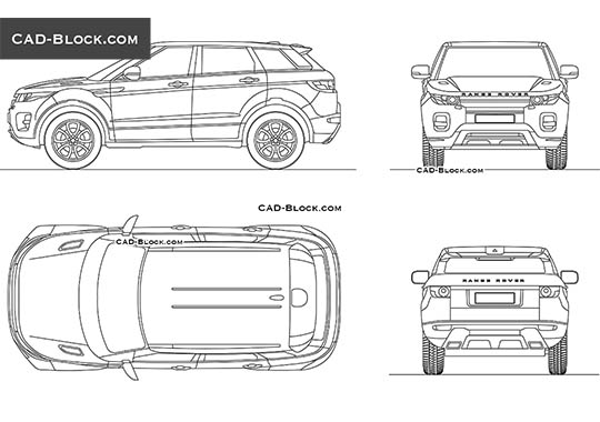 Range Rover Evoque buy AutoCAD Blocks