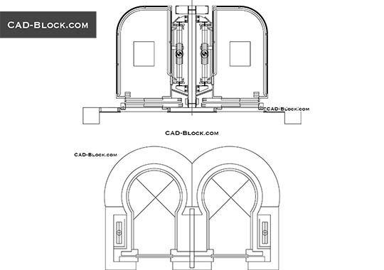 Panoramic Elevator - download free CAD Block