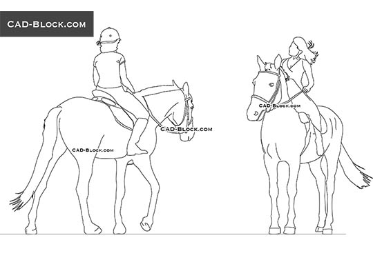 Horse Rider - download free CAD Block